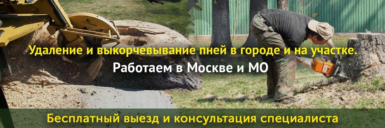 Корчевание пней от деревьев в Москве и МО