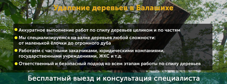 Удаление деревьев в Балашихе